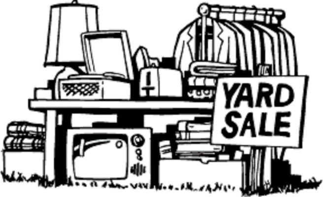 SPRING YARD SALE DATES – APR. 30, MAY 1 & 2