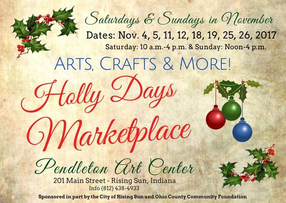 Holly Days Marketplace Continues Each Weekend In November