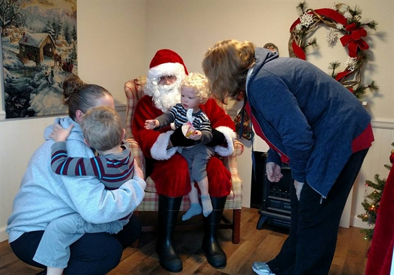 Santa and Mrs. Claus at Visitors Center December 2, 9 and 12