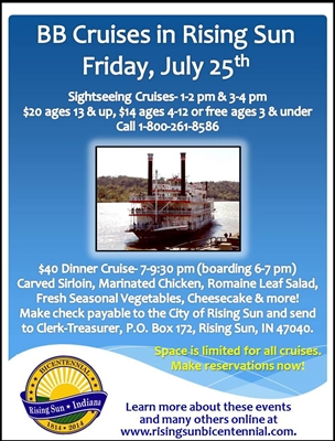 BB Riverboat Sightseeing Cruises in Rising Sun