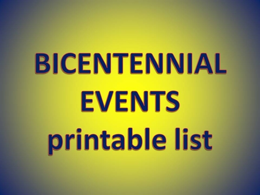 Printable List of Bicentennial Events