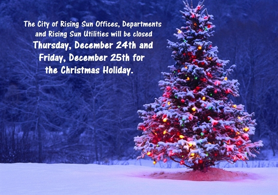 CITY OFFICES CLOSED FOR CHRISTMAS HOLIDAYS